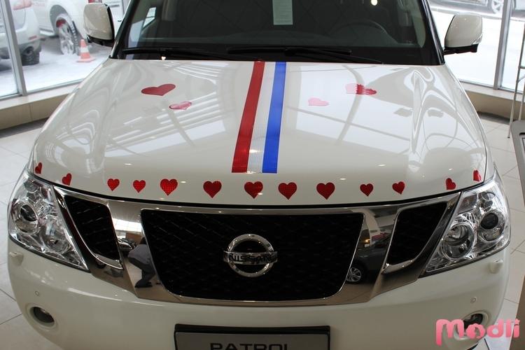 как украсить машину на свадьбу гостям