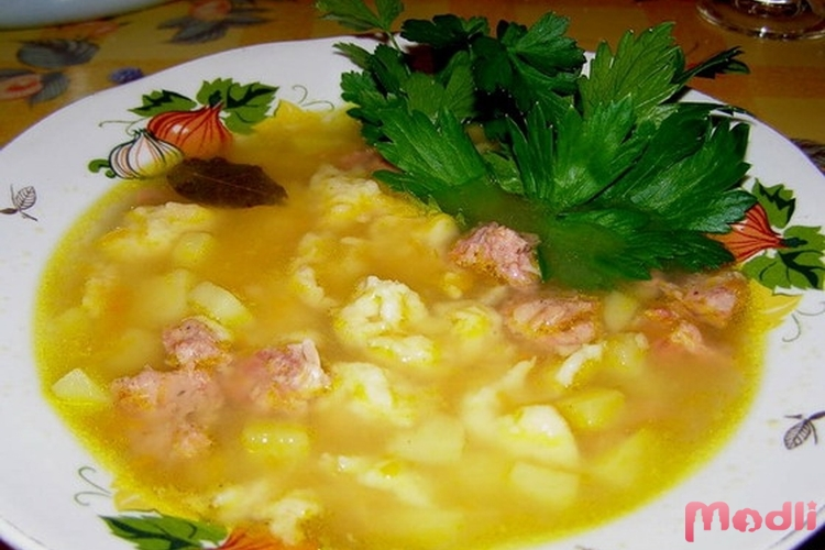 галушки в суп рецепт с фото